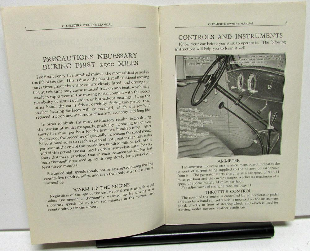 1934 Oldsmobile Eight Owners Manual Care & Operation Instruction Book Nice