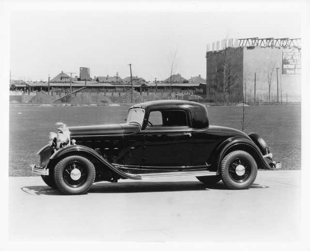 1932 Lincoln 3 Window Coupe Press Photo 0045