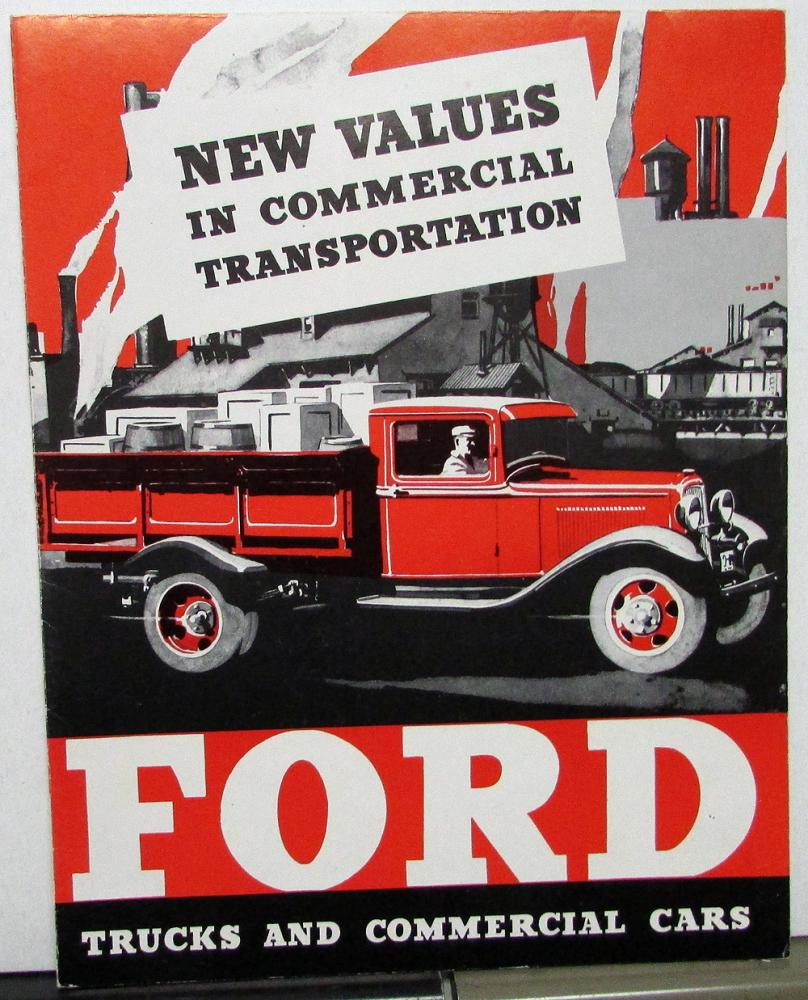 Ford Trucks & Commerical Cars Sale Brochure Poster Style With ...