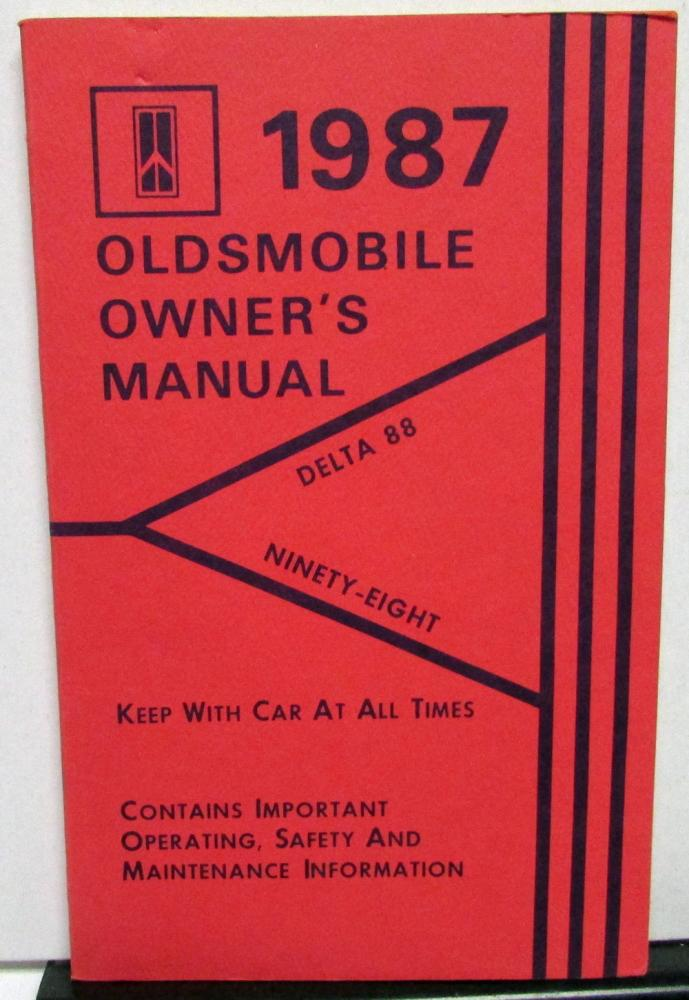 1987 oldsmobile owners manual delta 88 ninety eight 98 models care rh autopaper com delta faucets owners manual delta shopmaster owners manual