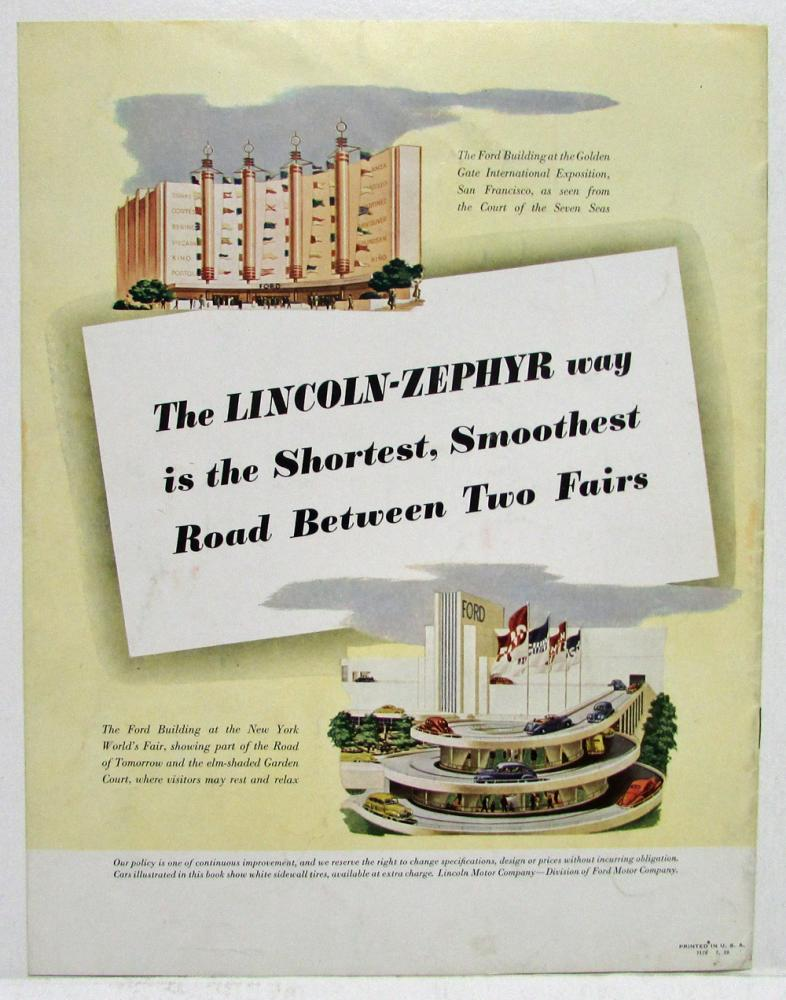 1939 lincoln zephyr sales brochure many things to many people