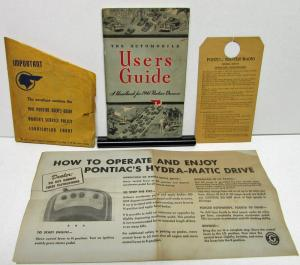 1941 Pontiac Six & Eight Owners Manual Care Operation With Visor Cover Rare