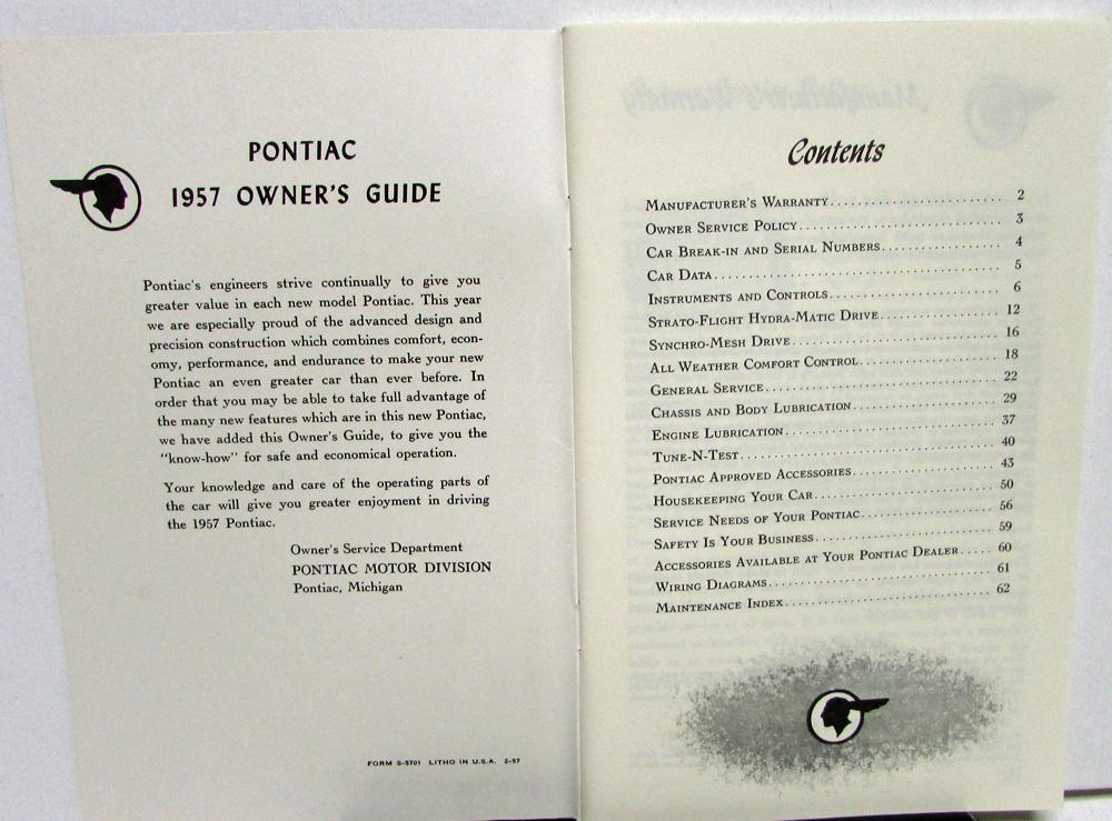 1957 pontiac owners manual care op star chief chieftain super chief rh autopaper com 1957 Oldsmobile 1957 Oldsmobile