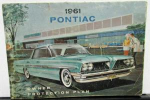 1961 Pontiac Owner Protection Plan Booklet Warranty