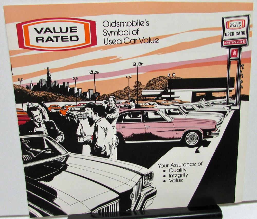 1973-76 Oldsmobile Value Rated Dealer Used Car Sales Brochure ...