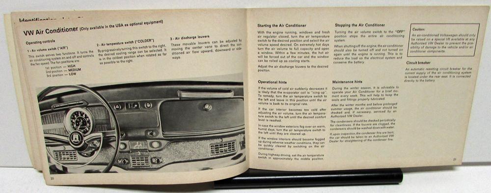 1971 volkswagen vw beetle owners manual care  u0026 operation