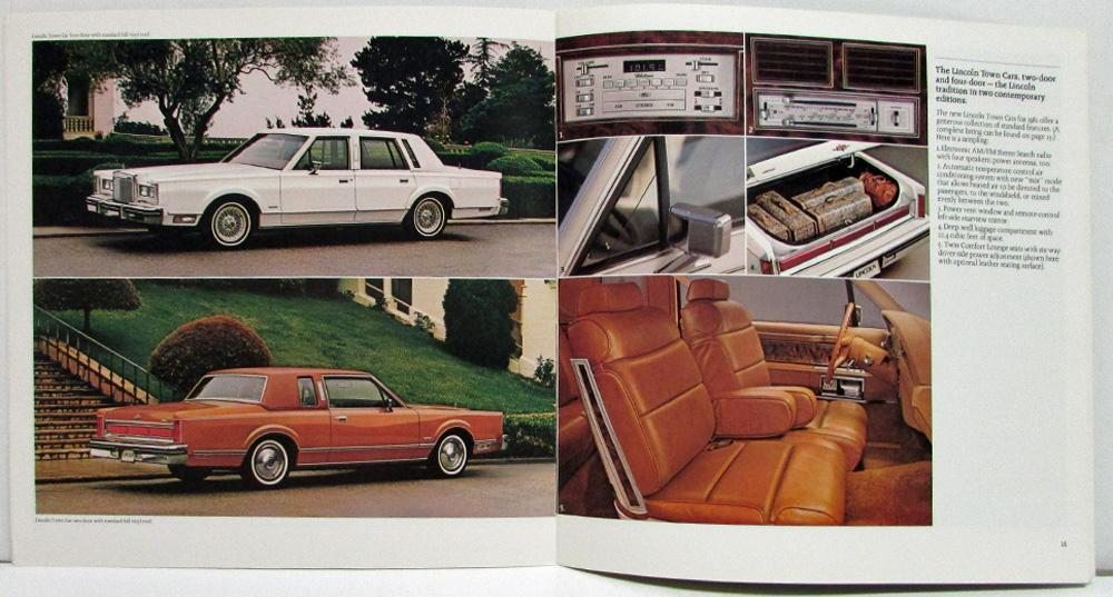 1981 Lincoln For Eighty One Sales Brochure Town Car