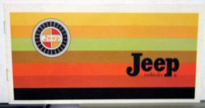 1967-1968 Jeep Models Vehicles Brochure Full Line Wagooner Jeepster Universal