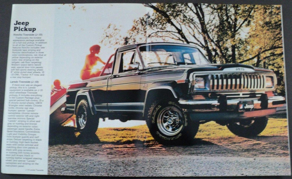 1981 Jeep Pickup CJ Cherokee Wagoneer Honcho Townside ...