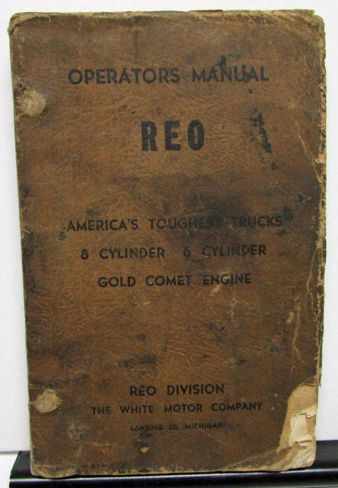 1959 REO Truck 8 & 6 Cylinder Owners Manual Care & Operation Original