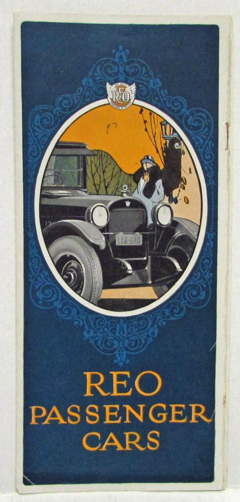 1925 REO Sedan Coupe Brougham Touring Passenger Cars Sales Brochure Original