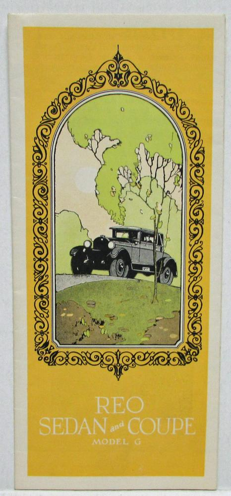 1925 REO Model G Sedan Coupe Specifications Sales Brochure Folder Original