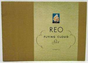 1931 REO Flying Cloud Six Sedan Victoria Coupe Prestige Sales Brochure Original