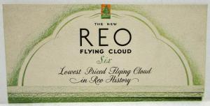1931 REO Flying Cloud Six Sedan Coupe Color Sales Folder Brochure Original