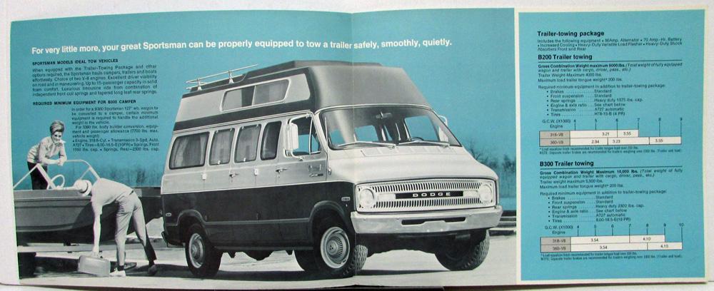 1972 Dodge Sportsman Wagon Van Trailer Towing Requirements Sales