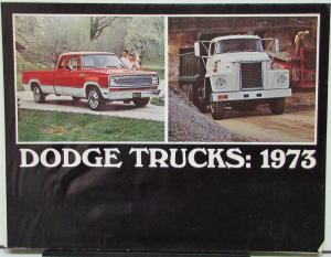 1973 Dodge Trucks Full Line Color Sales Folder Original