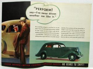 1935 REO Car Features & Self Shifter Color Sales Folder Brochure Original