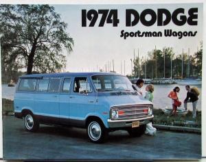1974 Dodge Sportsman Wagons B100 B200 B300 Color Sales Brochure Original