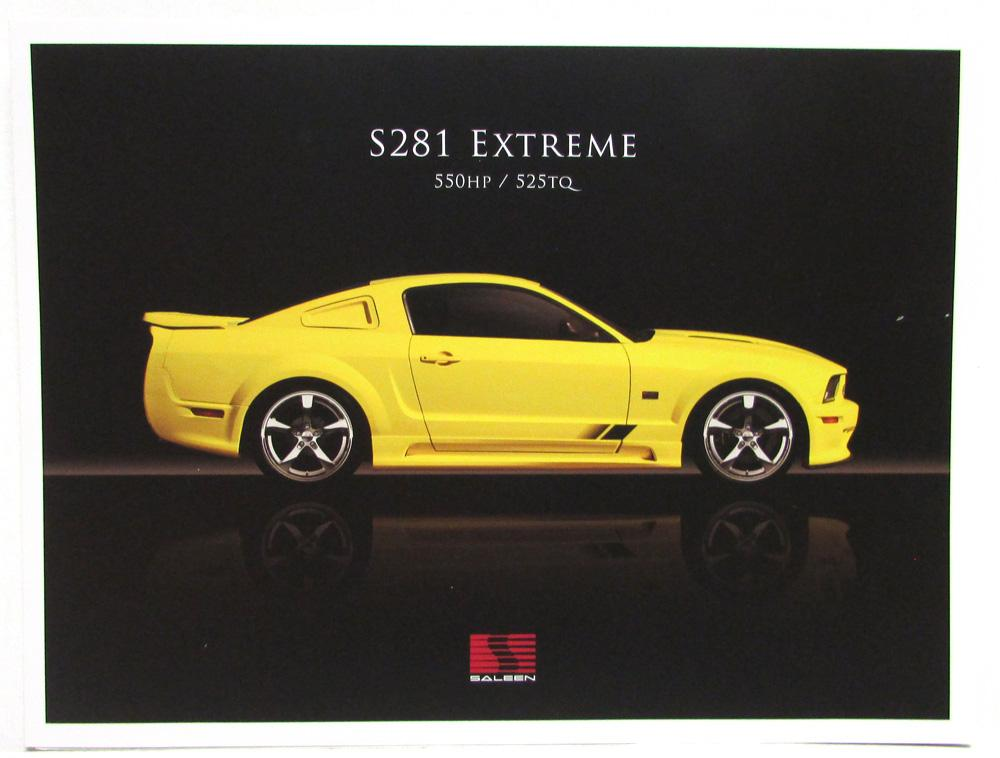 2007 saleen s281 extreme mustang sales folder. Black Bedroom Furniture Sets. Home Design Ideas