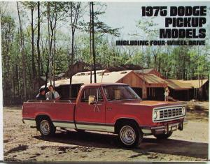 1975 Dodge Trucks Pickups & 4WD D100 to 300 W100 to 300 600 Sales Brochure