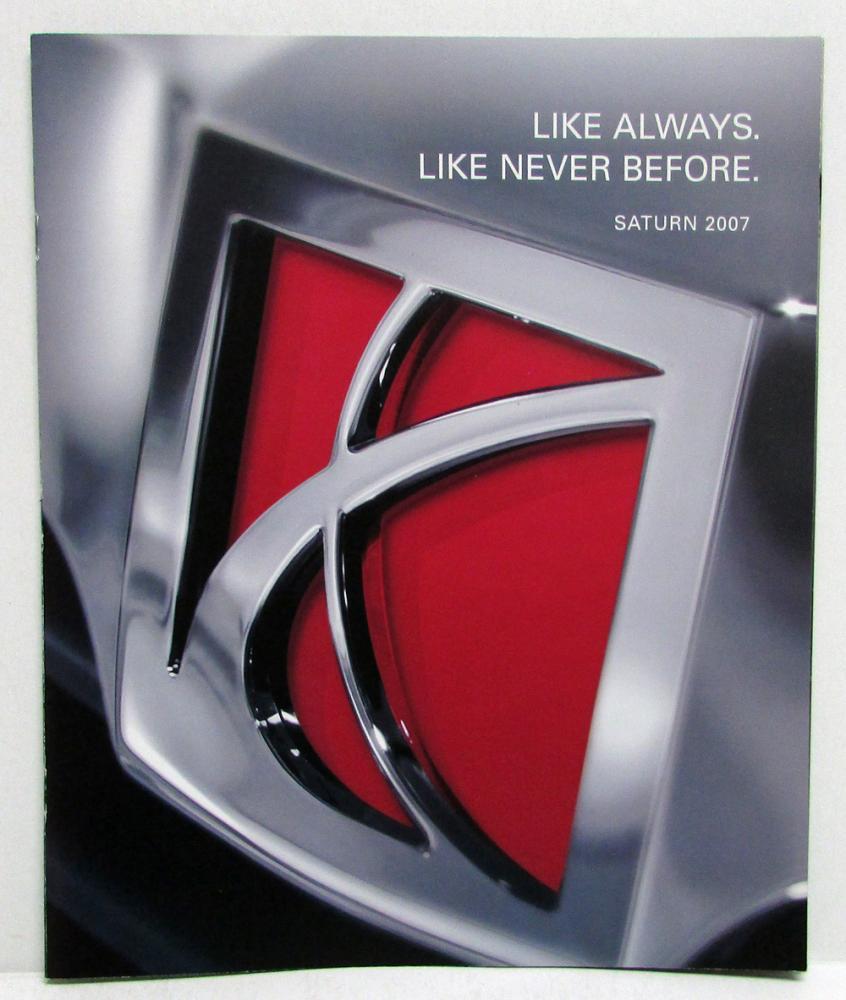 2007 Saturn Full Line Sales Brochure Relay Vue Ion Sky Outlook Aura