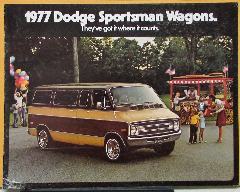 1977 Dodge Sportsman Wagons B100 B200 B300 Maxiwagon Sales