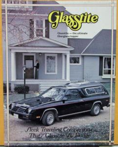 1980 1982 1983 1984 1985 Dodge Glasstite Toppers Rampage & Pickup Sales Sheet