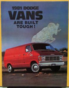 1981 Dodge Van B Models CANADIAN Color Sales Brochure Original