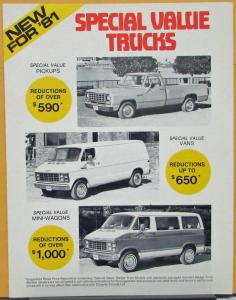 1981 Dodge Special Value Trucks Vans CANADIAN Sales Folder Original