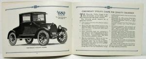 1923 Chevrolet for Economical Transportation Commercial Cars Sales Brochure