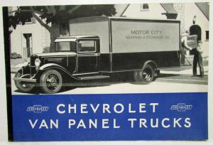 1932 Chevrolet Van Panel Trucks Sales Brochure