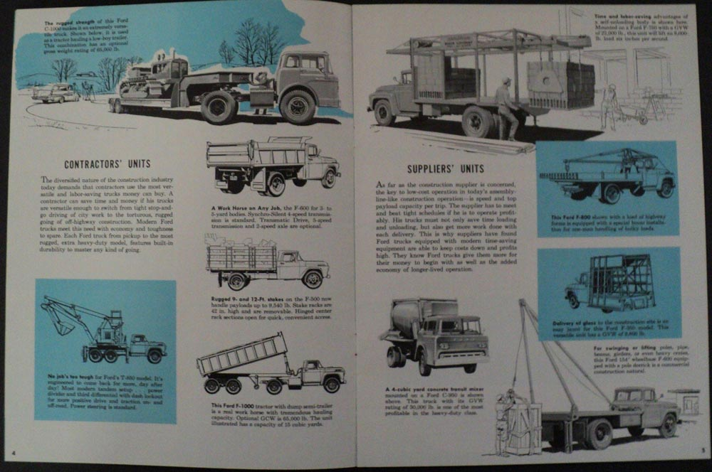1958 Ford Guide Proper Truck Selection For Construction