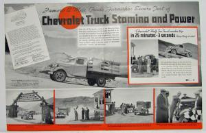1936 Chevrolet Truck To the Top of Pikes Peak Sales Brochure