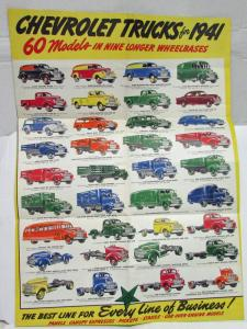 1941 Chevrolet Trucks They Are Bigger Better More Powerful Sales Mailer Folder