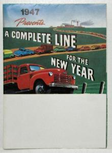 1947 Chevrolet Truck Complete Line for the New Year Sales Mailer Folder Reprint