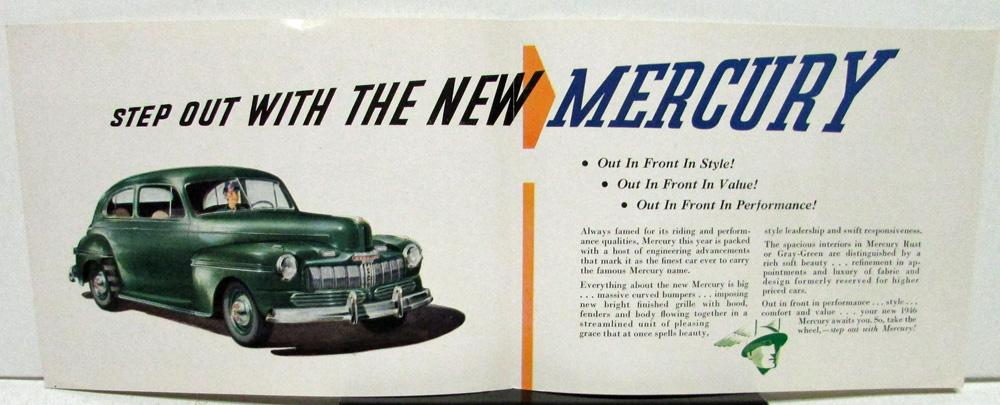 1946 Mercury Dealer New Models Introduction Invitation Original Rare