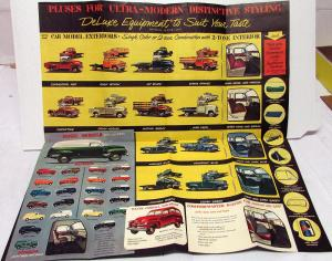 1955 Chevrolet Trucks Styled to Suit Sales Folder 1st Series Mailer