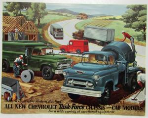 1955 Chevrolet All New Task-Force Trucks Chassis and Cab Models Sales Brochure