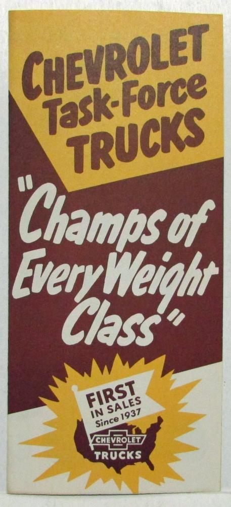 1956 Chevrolet Task Force Trucks Champs of Every Weight Class Sales Folder