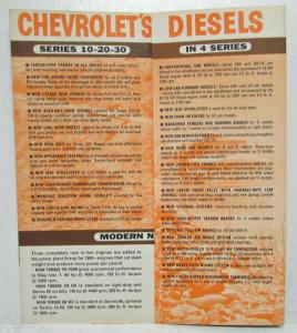 1963 Chevrolet Feature Facts About Jobmaster Trucks Sales Trifold