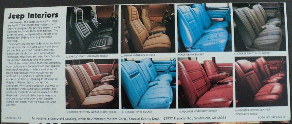 1980 Jeep Sales Brochure Accordion Folder CJ7 J10 J20 ...