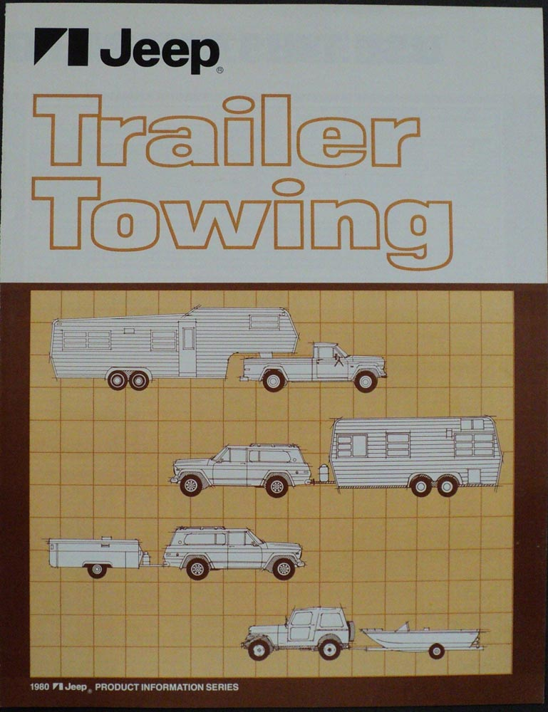 1980 Jeep Trailer Towing Product Information Brochure