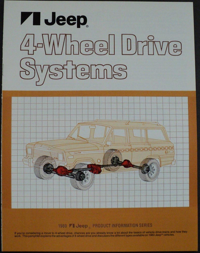 1980 Jeep 4 Wheel Drive Systems Product Information Brochure