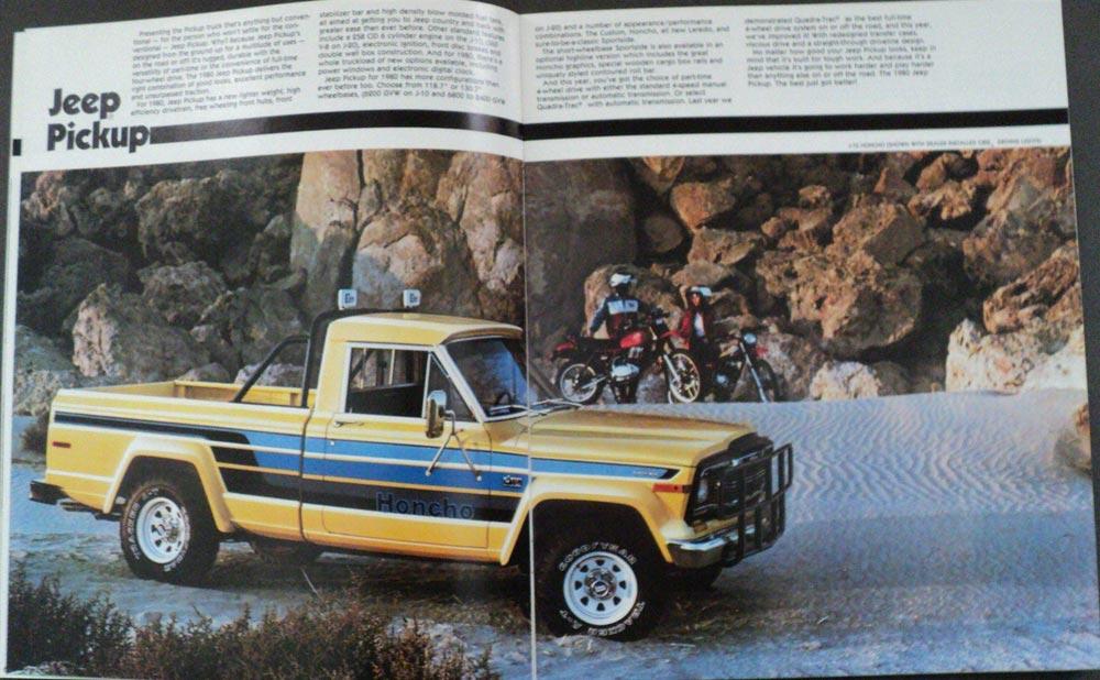 1980 Jeep CJ5 CJ7 Pickup Cherokee Wagoneer Sales Brochure ...