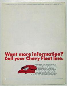 1972 Chevrolet Trucks Good News For You Fleet Sales Mailer Folder