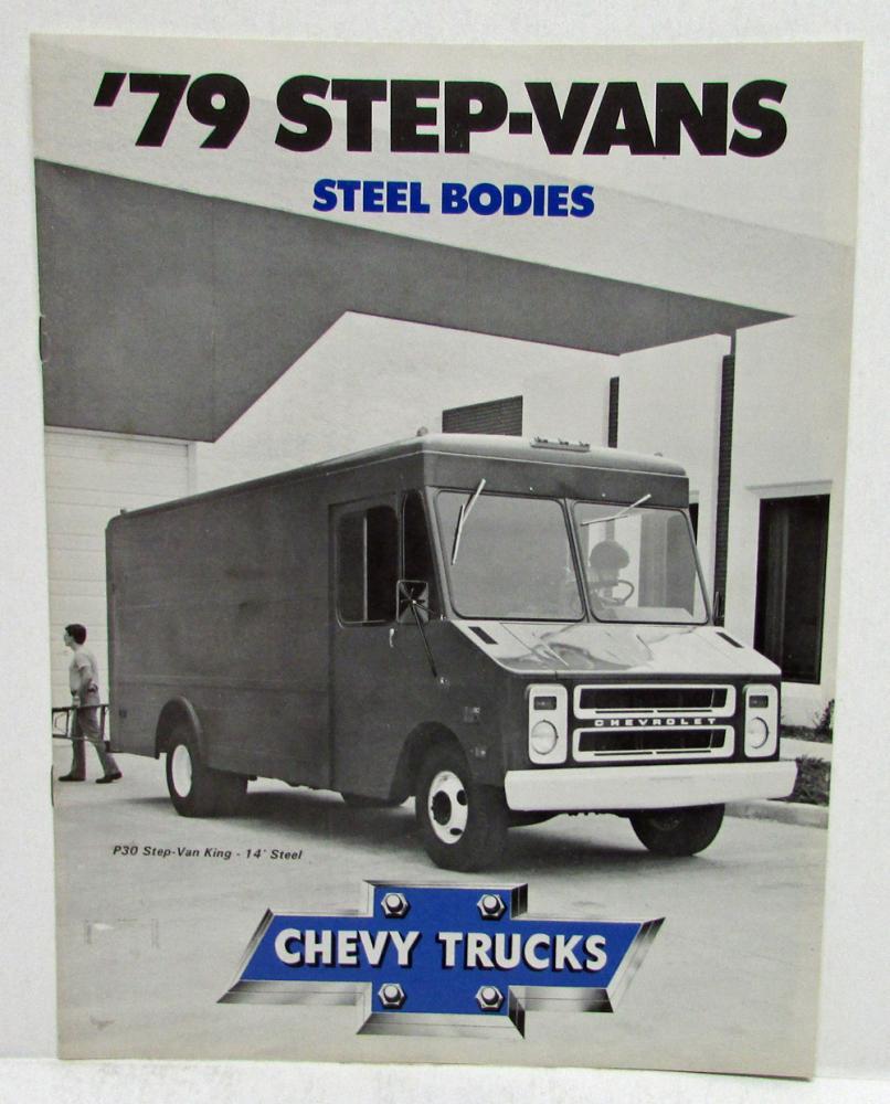 1979 Chevrolet Step Vans Steel Bodies Sales Brochure 1949 Chevy Van