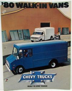 1980 Chevrolet Walk-In Vans Sales Folder