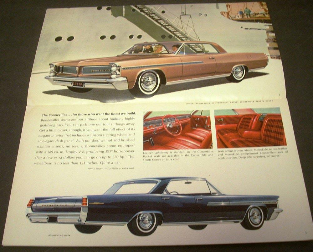 1963 Pontiac Star Chief Bonneville Catalina Safari Grand Prix Sales 1941 Brochure