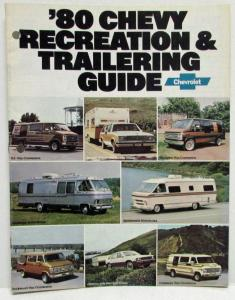 1980 Chevrolet Recreation and Trailering Guide Sales Brochure