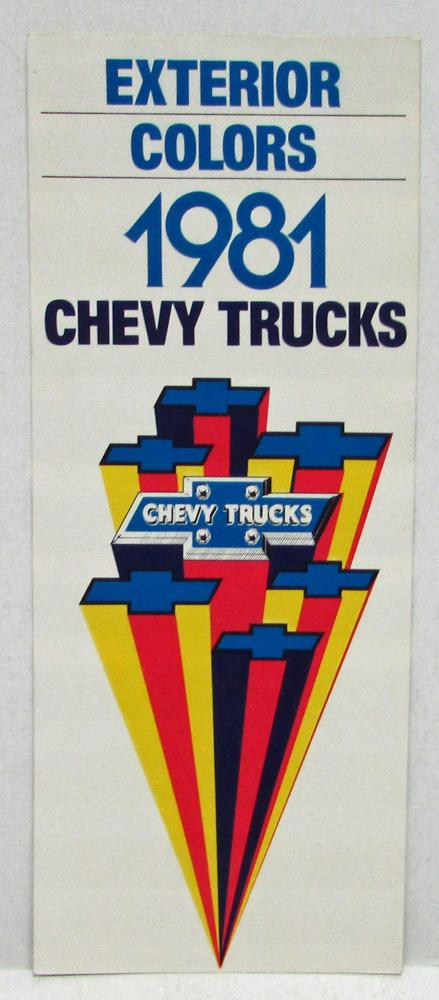 1981 Chevrolet Trucks Factory Exterior Colors